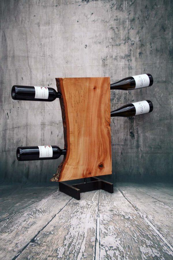 Weinregal Linde Wave mit Flaschen