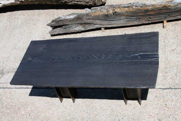 Baumscheibe Tischplatte Eiche geköhlt